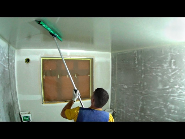 Механизированная шпаклёвка и стеклохолст Finishing a Drywall