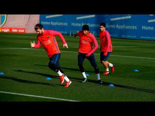 FC Barcelona training session: Barça train before trip to Doha