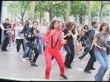 Michael Jackson Flashmob Tribute Leicester Square- Thriller- Bad- Part 1