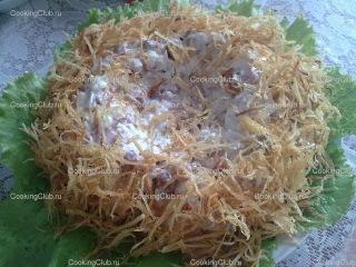 Вкусные салаты Салат Гнездо глухаря