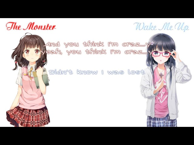「Nightcore」→ The Monster/Wake Me Up (Acoustic Mashup) ( Switching Vocals )