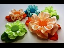 Flower from the whole ribbon Flores de la cinta entera Цветок из цельной ленты МК