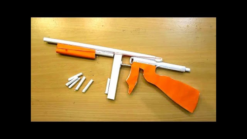 How to make a Paper Gun that shoots paper bullets at home - MQV Toys