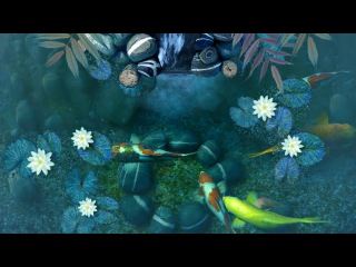 Koi Pond - Waterfall 3D Screensaver Live Wallpaper HD