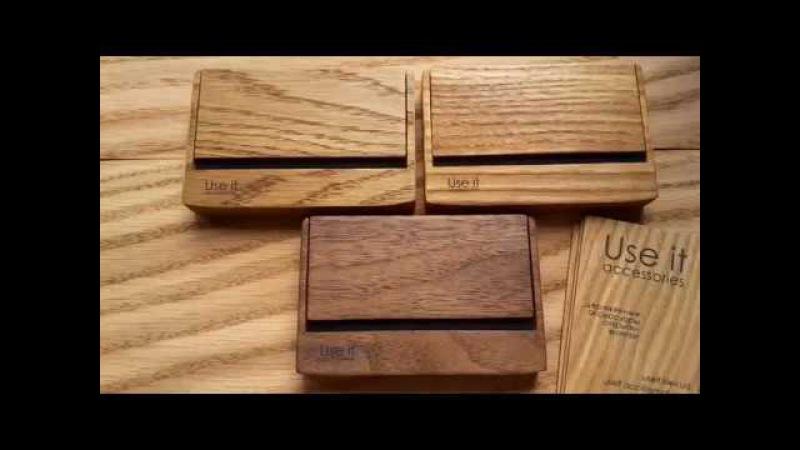 Деревянная визитница Портсигар Wooden cardholder