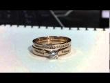 Арт.0102089 - Кольцо сет помолвочное 0,3кр обручальное кольца