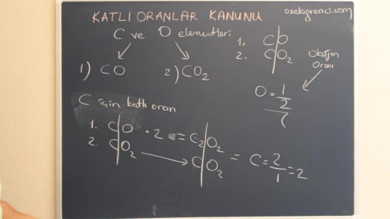 Kimya -Katlı Oranlar Kanunu Ders Videosu- Tek Part-Full HD