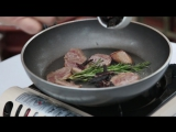 Утка фламбе с имбирем и черносливом (1)