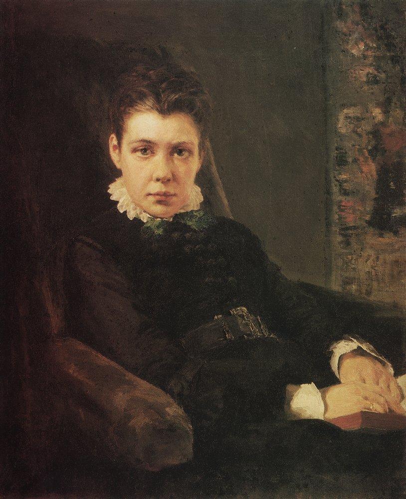 Василий Дмитриевич Поленов 1844 — 1927 Портрет В.Д.Хрущевой, сестры художника Portrait V.D. Khrushchev, sister of the artist