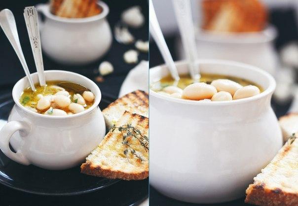 Фасолевый суп с розмарином