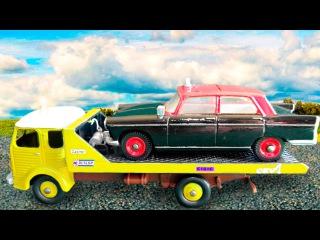 Der Gelbe Abschleppwagen mit Autos - Lernen und bauen - Lehrreicher Zeichentrickfilm für Kinder
