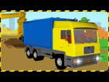 The Big Truck & the Excavator - Construction Trucks Video - World of Cars for children Part 2