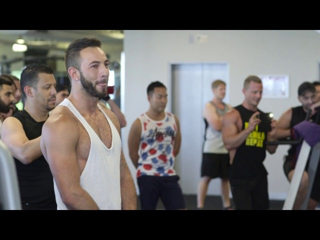 Nico Mikey Flash Mob Proposal Fitness First Gym
