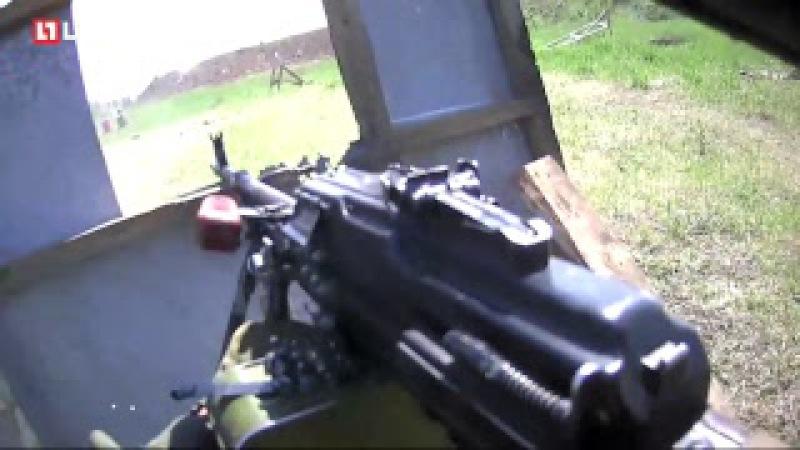 Тренировка пулемётчика батальона Спарта от первого лица
