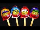 Киндер Джой Мороженое Синий Красный Желтый Издание Kinder Joy Surprise Eggs Blue Red Yellow Edition мультики машинки игрушки дети юмор