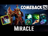 Miracle Silencer Epic Comeback vs Mega Creeps Dota 2