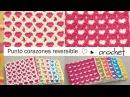 Punto corazones reversible o AMOR ETERNO 💗 tejido a crochet! Tejiendo Perú