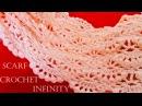 Como tejer bufanda infinita circular tubular fácil en puntos originales Knit scarf infinity