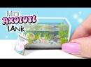 How To Mini Axolotl Tank Tutorial DIY Miniature Aquarium