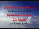 Credo in Unum Deum