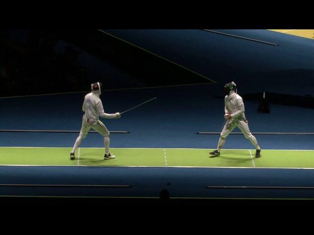 FE M E Individual Rio BRA Olympic Games 2016 T32 07 green KAUTER SUI vs HEREY UKR