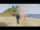 GTA 5.Драка на пляже.