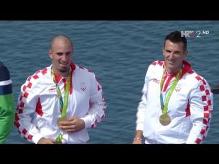 Martin i Valent Sinkovic, ol. prvaci u dvojcu na parice - Dodjela zlatnih medalja (Rio 2016), 11.08.2016. Full HD