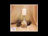 Christmas vintage decoupage candle holder DIY shabby  ideas decorations craft tutorial / URADI SAM