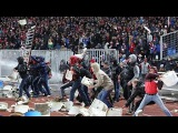 HOOLIGANS №1:RUSSIA The fans of Spartak Moscow attacking a stadium in Yaroslavl.