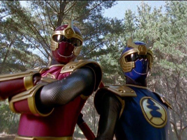 Power Rangers Ninja Storm - Wind Rangers vs Thunder Rangers (All Fights)