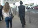Dándoles la bienvenida a Europe en el Aeropuerto de Ezeiza- Bs. As.-Argentina