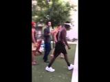 Street fight. Kick in the head ! KO the most short fight