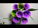 Hướng dẫn làm hoa rau muống bằng giấy nhún 2016