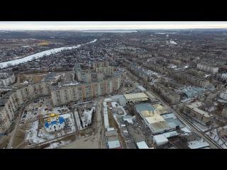 Полёты над городом Белая Калитва Сосны и скала