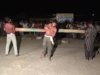 Strong man real stunts in andhra pradesh