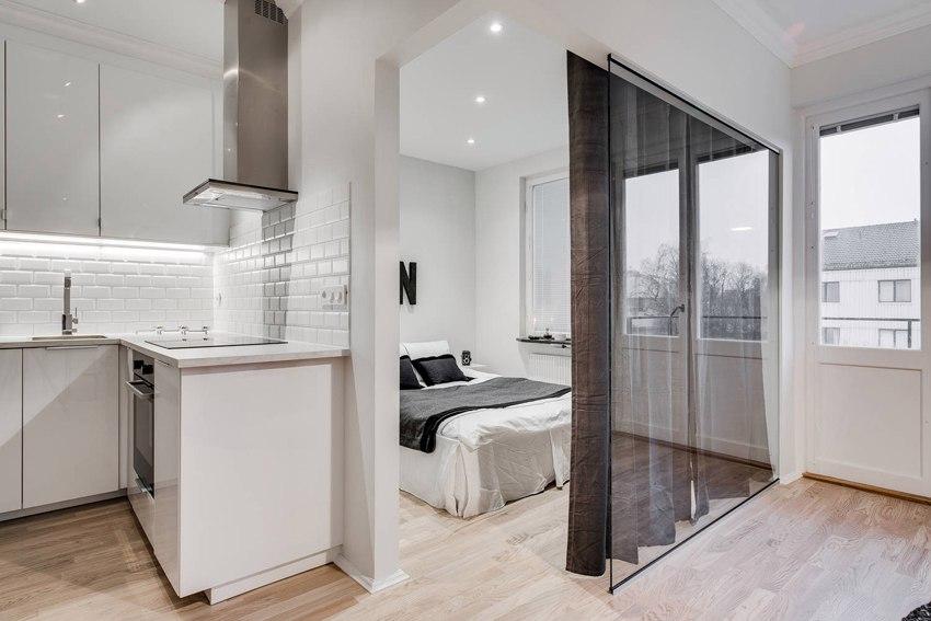 Интерьер квартиры-студии 31 м.