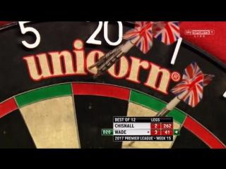 Dave Chisnall vs James Wade (2017 Premier League Darts / Week 15)