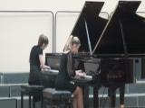 Д. Шостакович. Концертино для 2-х фортепиано. Исполняют Екатерина Зыкова - Ефимова Вера