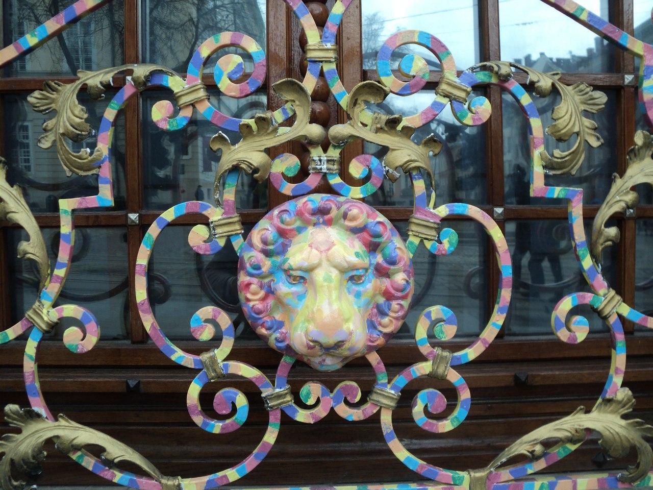 Львовские львы - визитка города. Прогулка вокруг площади Рынок.