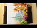 How to paint trees and bushes in acrylics  part 2