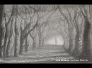 Cómo dibujar un camino con árboles Sol y sombra a lápiz