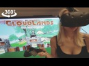 Playing VIVE HTC Virtual reality headset, Minigolf, VR 360 camera