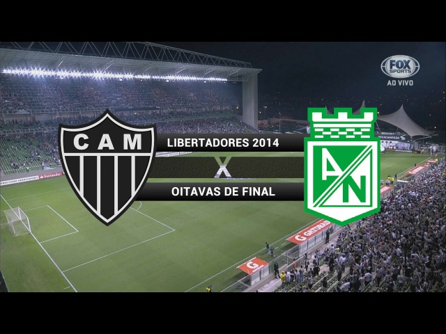 Gols - Atlético-MG 1 x 1 Atlético Nacional (COL) - Libertadores 2014 - 01/05/2014