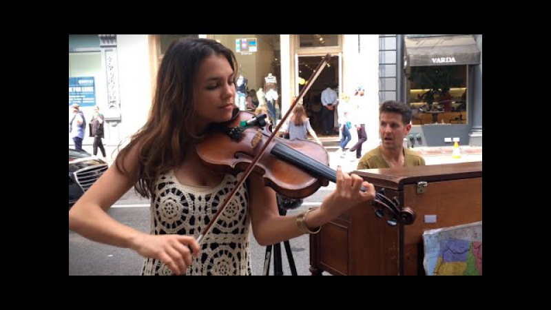 Spontaneous Street Piano and Violin Duet in New York City with Ada - Part 1