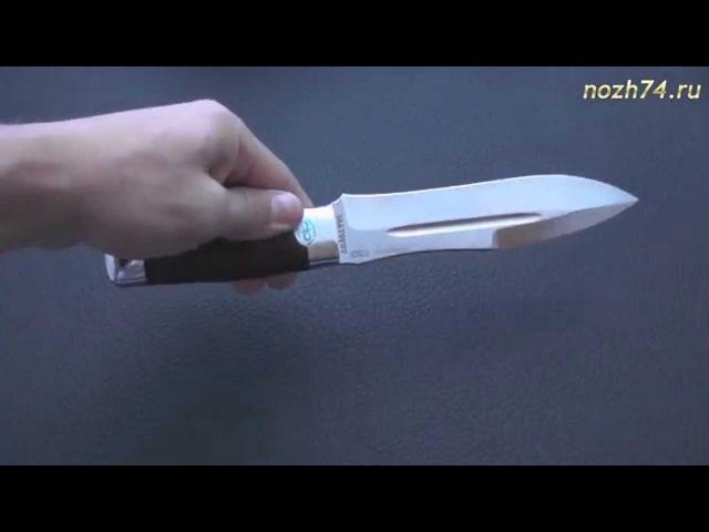Нож Скорпион (Кожа, 110Х18МШД) - www.nozh74.ru