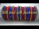 How to Make Silk Thread Bangles Pearls Bangles with Zari Thread video 89