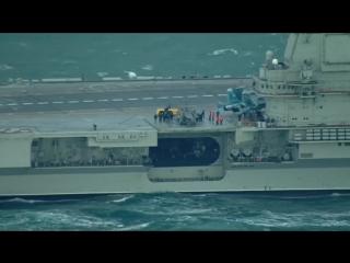 Появилось видео прохода группой «Адмирала Кузнецова» пролива-1