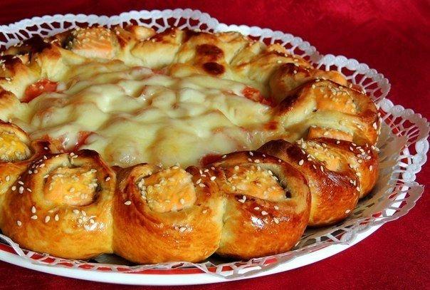 Пирог из семги рецепт с фото очень вкусный