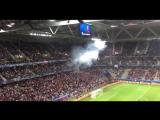Болельщики сборной России после матча со словаками зажгли файеры