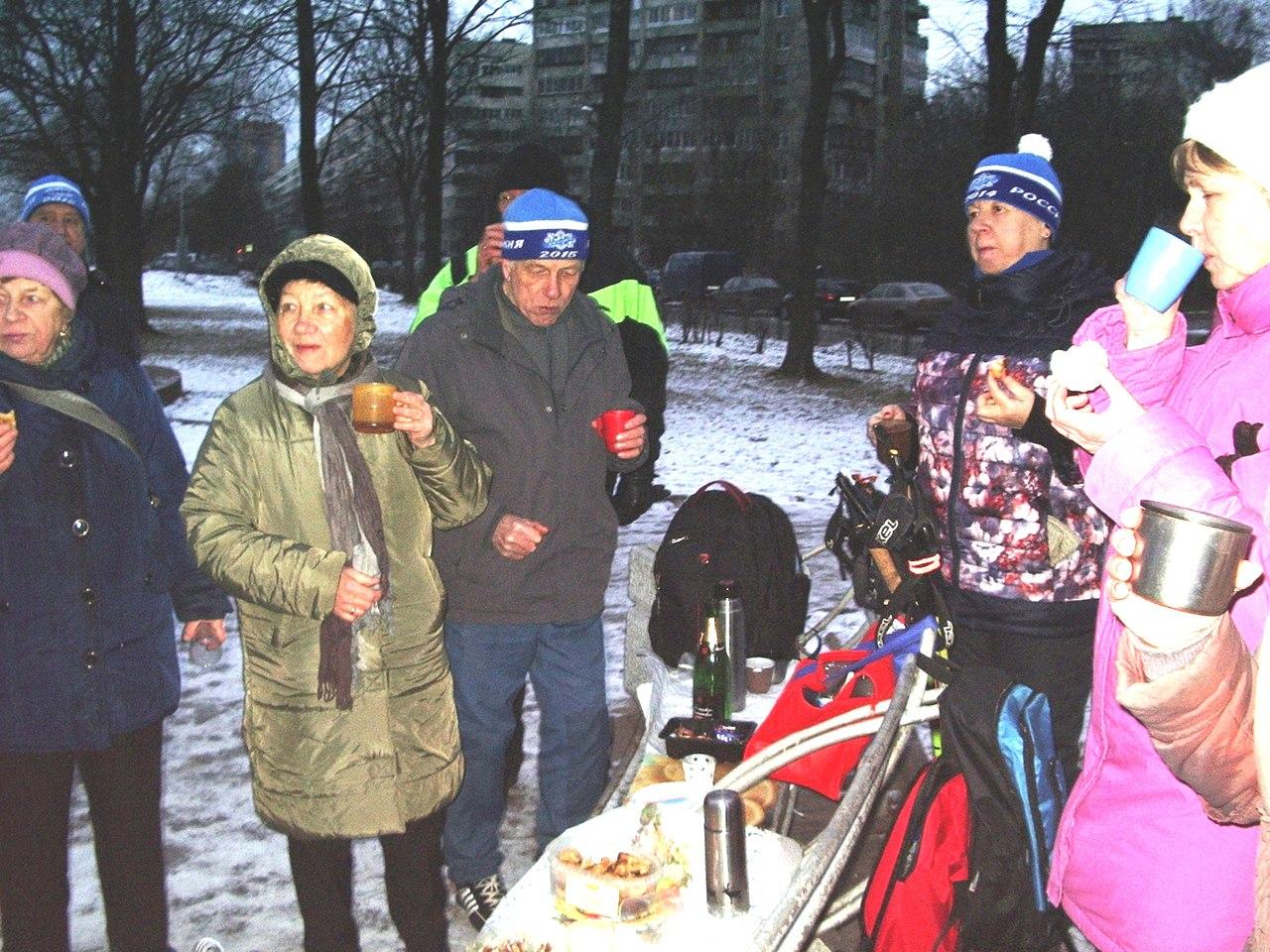 Новогодние старты. 29 декабря 2016 парк Турку. Группа Скандинавской ходьбы «Возрождение»